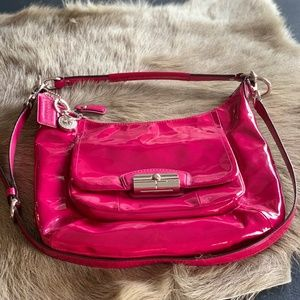 Patent Leather Coach Hobo Bag